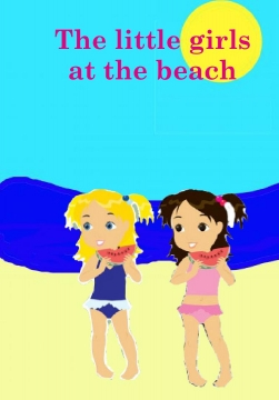 The little girls at the beach