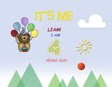 IT'S ME, LIAM! I AM 4 YEARS OLD!