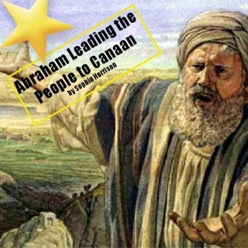 Abraham leading the people to canaan