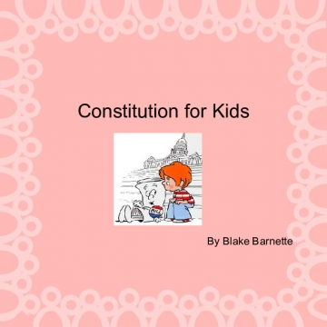 Constitution for Kids