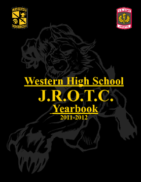 Western High J.R.O.T.C. Yearbook 2011-2012