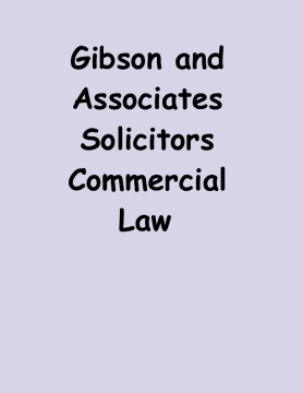Gibson and Associates Solicitors Commercial Law