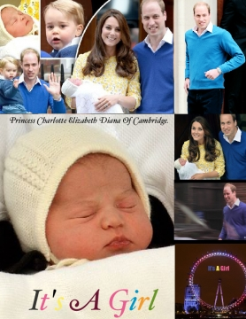Princess Charlotte Elizabeth Diana Of Cambridge.