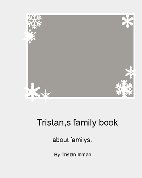 Tristan Inman,s first family book