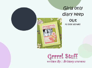 Girls Diary keep out