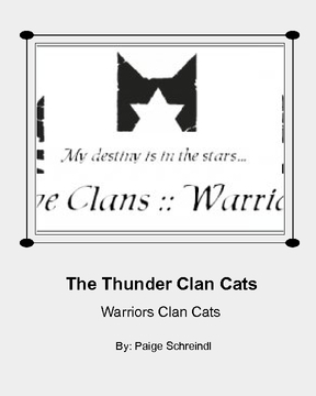 Warriors: Thunder Clan Cats