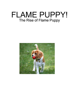 FLAME PUPPY!
