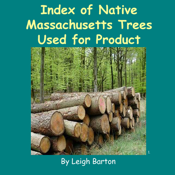 Index of Native Massachusetts Trees Used for Product