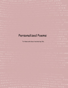 Personalized Poems
