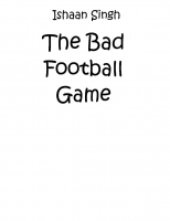 The Bad Football Game