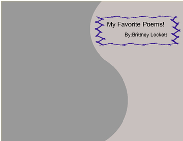 My Favorite Poems!