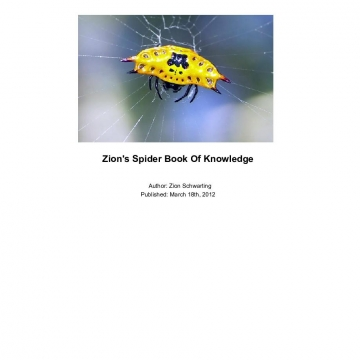 Zion's Spider Book Of Knowledge