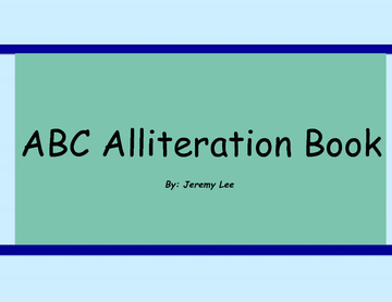 ABC Alliteration Book of Animals