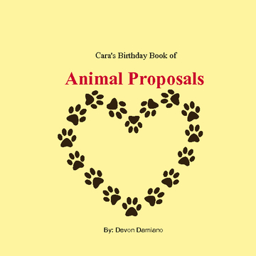 Cara's Birthday Book of Animal Proposals