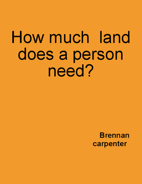 How Much Land Does A Person Need?