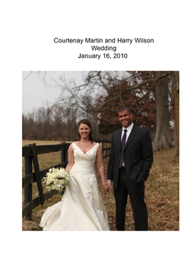 The Wedding of Courtenay Martin and Harry Wilson