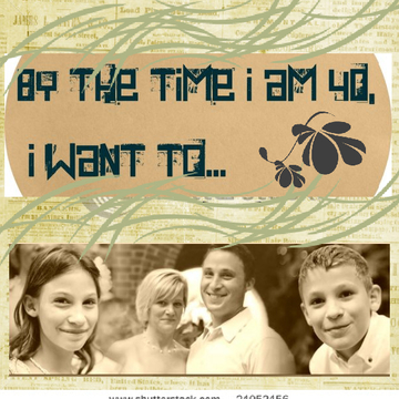 By the Time I am 40, I Want to...
