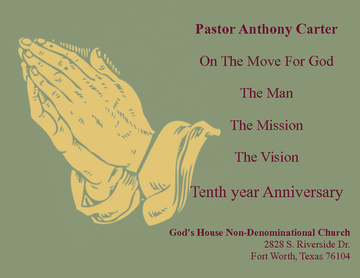 Pastor Anthony Carter 10th Anniversary Appreciation