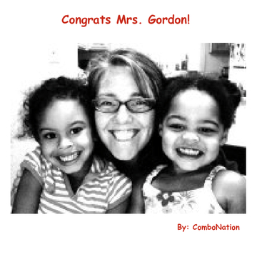 Congrats Mrs. Gordon!