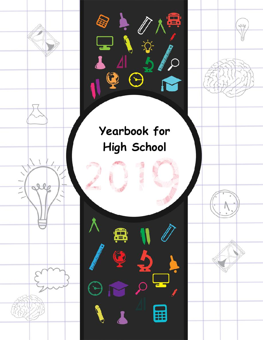 Yearbook template high school book 569146 for Templates for yearbook pages