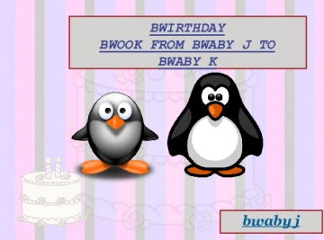 BWIRTHDAY BWOOK FROM BWABY J TO BWABY K