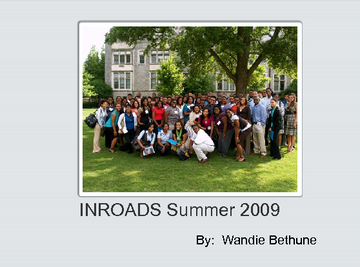 INROADS Yearbook