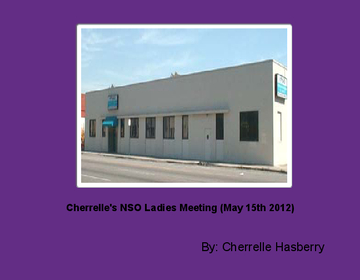 Cherrelle's NSO Ladies Meeting (May 15th 2012)