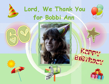 Lord, We Thank You for BOBBI ANN