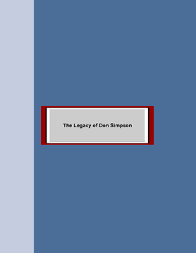 Legacy of Don Simpson