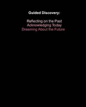 Guided Discovery: Acknowledging Today
