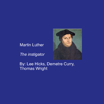 Martin Luther of the Reformation