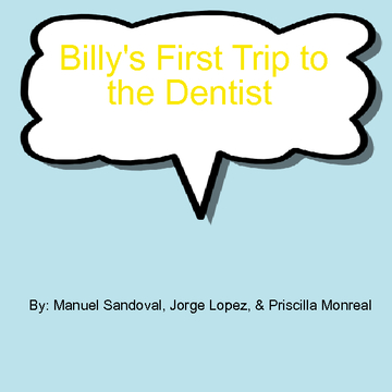 Billy's First Trip to the Dentist