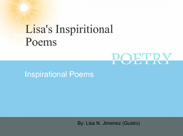Lisa's Poetry Book