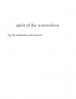 spirit of the werewolves