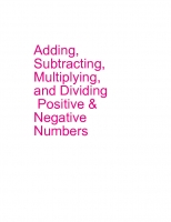 adding, subtracting, multiplying, and dividing positive numbers