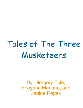 Tales of The Three Musketeers