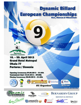 European Pool Championships 2013, Men, Women & Wheelchair