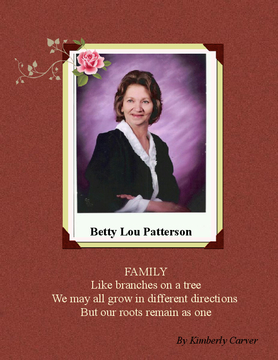 The Family History of Betty Lou Patterson