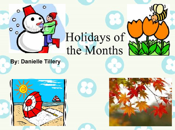 Holidays of the Months