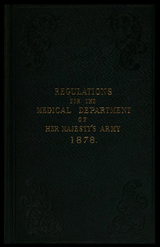 Regulations for the Medical Department, 1878