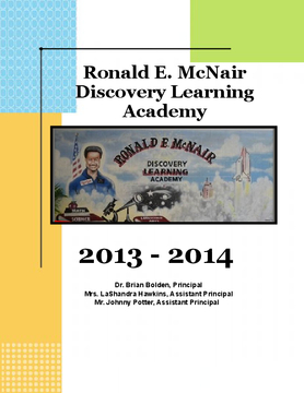 McNair Discovery Learning Academy's 2013-2014 Yearbook