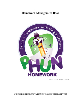 PHUN Homework Management Book