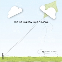 The trip to a new life in America