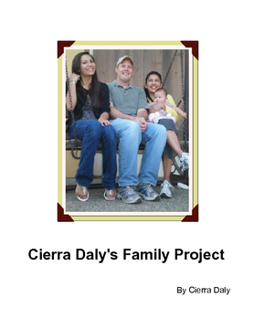 Cierra Daly's Family Project