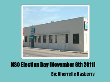 NSO Election Day (November 8th 2011)
