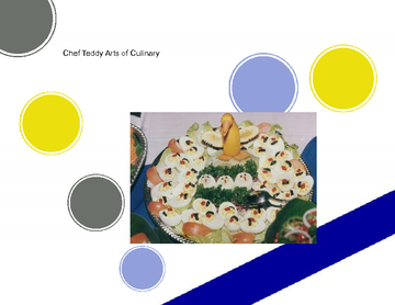 Chef Teddy  Arts Of Culinary