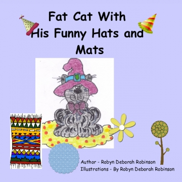 Fat Cat With His Funny Hats and Mats