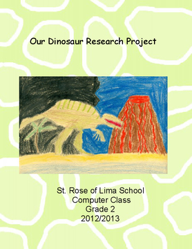 Our Dinosaur Research Project