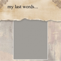 my last words...
