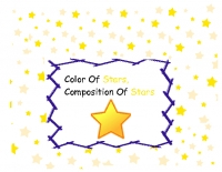 Color Of Stars, Compostion Of Stars